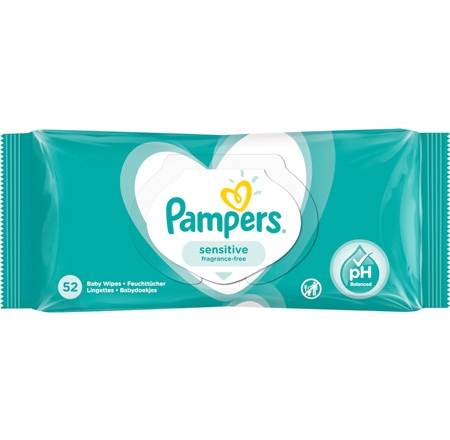 Pampers Sensitive Våtservetter - 52 st