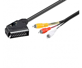 Goobay Scart til IN/OUT Kabel - 2 meter