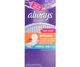 Always Fresh Scent Dailies Normal 20 st.