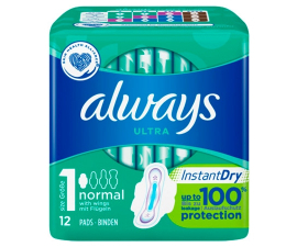 Always Ultra Normal Instant Dry - 12 st