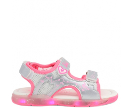 Barbie Sandaler M. LED - Silver
