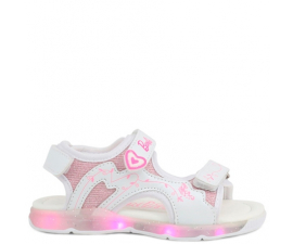 Barbie Sandaler m. LED - Vit