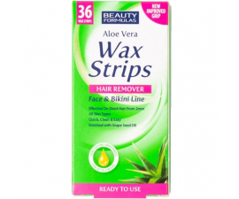 Beauty Formulas Aloe Vera Bikini Line Wax Strips - 36 st