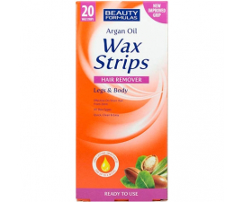 Beauty Formulas Argan Oil Wax Strips - 20 st