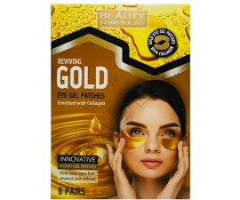Beauty Formulas Gold Gel Ögonmask - 6 par
