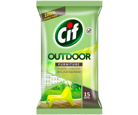 Cif Outdoor Furniture Wipes - 15 St