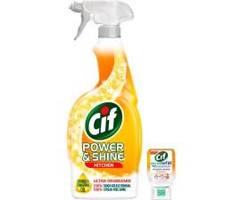 Cif Power & Shine Kitchen Spray - 700ml & 70ml