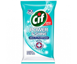 Cif Power & Shine Mulitipurpose Wipes - 90 Stk