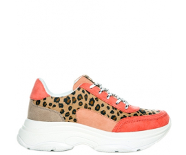 Duffy Sneakers - Pink & Leopard