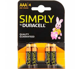 Duracell Simply AAA Batterier - 4 st