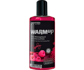 Joydivision WARMup Värmande Massageolja Raspberry - 150 ml