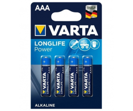 Varta Longlife Power AAA Batterier - 4 st