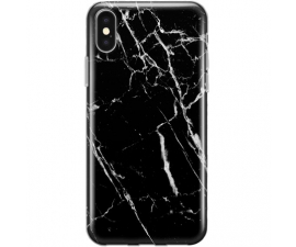 BasicPlus iPhone X/Xs Cover - Svart Marmor