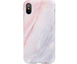 BasicPlus iPhone X/Xs Cover - Rosa Marmor