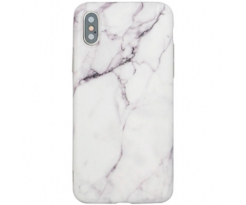 BasicPlus iPhone X/Xs Cover - Vit Marmor