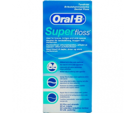 Oral-B Superfloss Tandtråd - 50 st