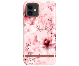 Richmond & Finch Pink Marble Floral Mobil Cover - iPhone 11