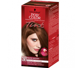 Schwarzkopf Poly Color Tint Hårfärg - 38 Warm Brown