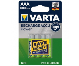 Varta Recharge Power AAA 1000 mAh Batterier - 4 st