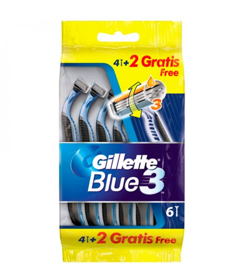 Gillette Blue3 - 6 stycken